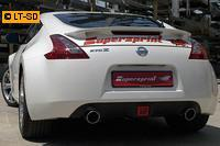 Supersprint Sportauspuffanlage ab Serien-Katalysator rechts-links 100mm - Nissan 370Z Coupe u. Cabrio ab Bj. 09
