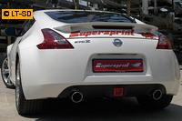 Supersprint Sportauspuff Komplettanlage inkl. Metall-Kat. rechts-links 100mm - Nissan 370Z Coupe u. Cabrio ab Bj. 09