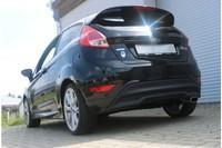 FOX Sportauspuff Racing Komplettanlage ab Kat. Ford Fiesta VII 1.6 Ti Black Red Edition 145x65mm